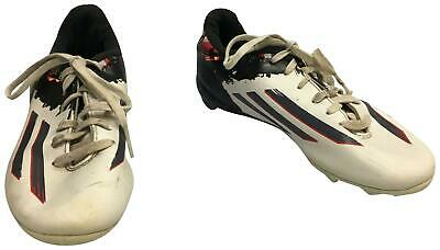 PRE-OWNED Boys Adidas White & Black Football Boots Jnr Size 2 TH207