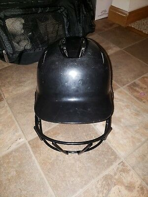 DeMarini Paradox Pro Fitted Adult Batting Helmet w Mask, Small Black WTD5421BLS
