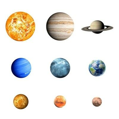 3X(Funlife Glow In The Dark Planets Wall Decals Removable Wall Stickers Lum T2A5