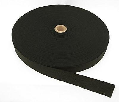 "Military Spec 2"" Wide Nylon Webbing - 25 Yards per Roll - Black"
