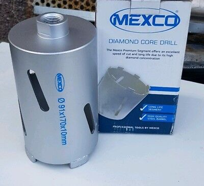 MEXCO DIAMOND SLOTTED DRY CORE DRILL 91 MM x 170mm