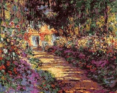Pathway in Monet's Garden at Giverny - Van-Go Paint-By-Number Kit (N12)