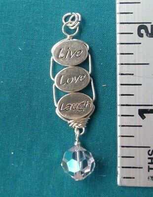 Live Laugh Love Charms Silver Tone #1005