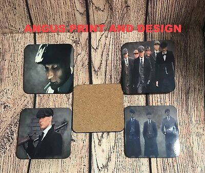 Peaky Blinders Cillian Murphy Tommy Shelby Coaster SET X 4