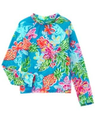 NWT Gymboree Girl Tropical Rash Guard  4 5 6 7 8  Swim shop UPF 50+