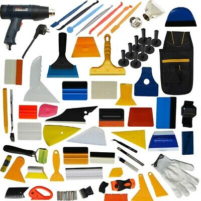 110V Heat Gun Paint Stripper DIY Tool Car Wrapping Squeegee Vinyl Tint Tools KIT