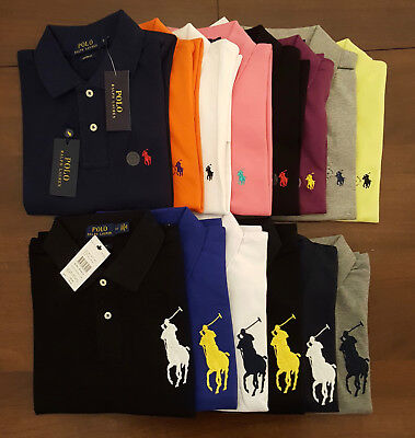Mens Ralph Lauren Small / Big Pony Short Sleeve Polo