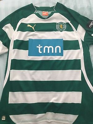 *Sporting Lisbon Home Shirt Large Portugal Camiseta Trikot*