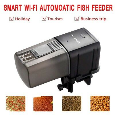 Automatic WiFi Smart Fish Feeder Control Timer Food Dispenser For Fish Tank AU