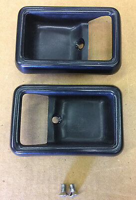 Datsun 720 King Cab Truck - OEM Interior Door Handle Bezel Panel - Nissan Rare
