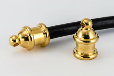 8mm Bright Gold TierraCast Pagoda Cord End #CK216