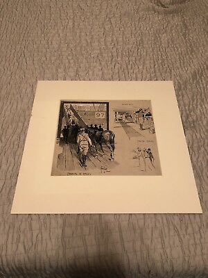Fred Leist Original Comic Art Pen And Ink London Graphic Sydney Artist Ww1