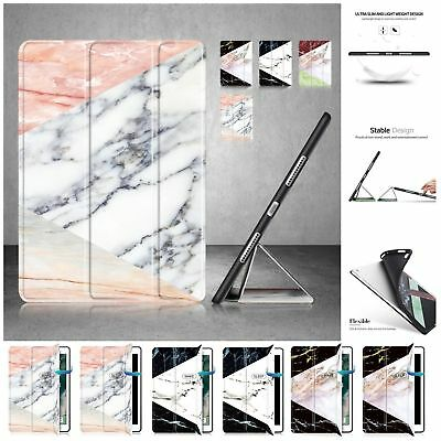 """New Marble Leather Smart Slim Case Cover For iPad Mini Air 2 New iPad 9.7"""" 2018"""