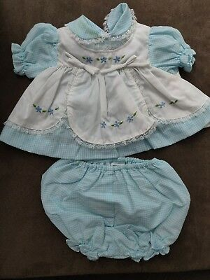 Vintage Infant Baby Girl Outfit 2 Pieces Dress Diaper Cover