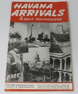 Vintage Rare HAVANA ARRIVALS SEPTEMBER 1947 Cuba Booklet 6 X 8.75 INCHES