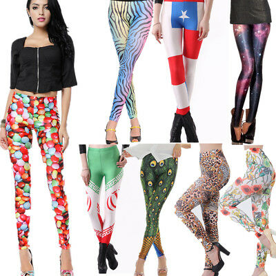 New Women Yoga Gym Pants Chic Leggings Fitness Jogger Stretchy Skinny Trousers