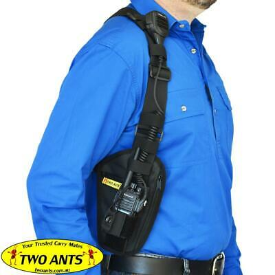 Phone & Radio Holster Harness - Right - Black - Two Ants Ghost SE000RBK