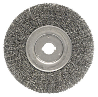 "Weiler 01259 10"" Wire Wheel Brush .014"" Wire 1-1/4"" Arbor Hole"