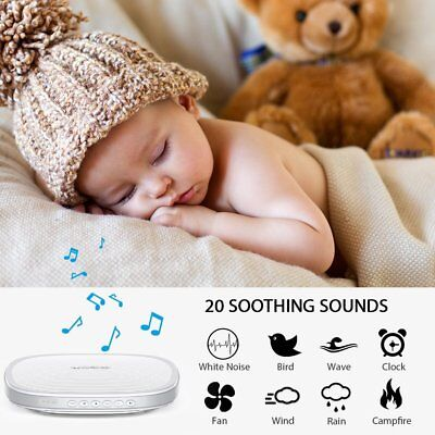 Baby Adult 20 Soothing Sleep Relaxing Therapy White Noise Machine Timer Portable