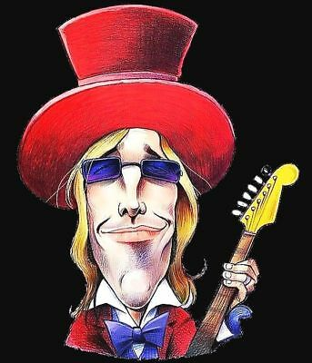 Tom Petty Caricature 70's-80's Rock Sticker or Magnet