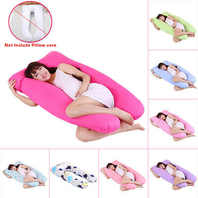 Maternity Pregnancy Boyfriend Arm Body Sleeping Pillow Case Covers Sleep U Shape