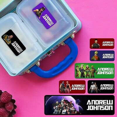 Fortnite Series Personalised Name Label for Kids, dishwashable microwavable