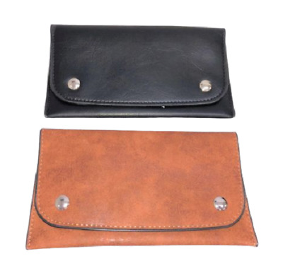 Leather Tobacco Pouch Cigarette Papers Rolling Holds 100g