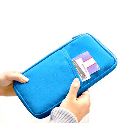 Multifunctional Bags Travel Passport Holder Ticket Wallet Handbag ID Credit Card