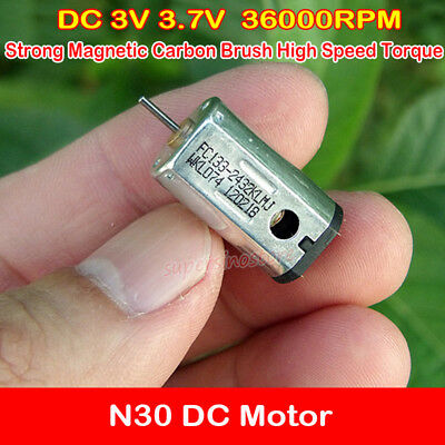10pcs DC3.7V 0.039A 25000RPM Motor 5*7MM Strong Magnetic Micro High-speed Motor