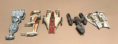 Star Wars Titanium Series, Lot of 15 vehicles and 9 stands