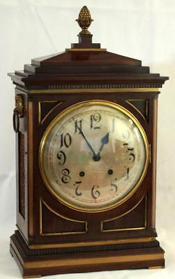 Antique Mahogany 8 Day Bracket Clock Winterhalder & Hofmeier Schwarzenbach