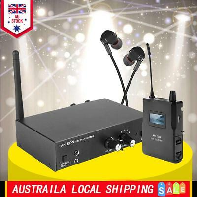 In Ear UHF Wireless Monitor System For Stage Performance 1 Receiver+Transmitter