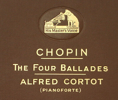 ALFRED CORTOT-PIANO-  Chopin: The Four Ballades  Fragment 78rpm  A255