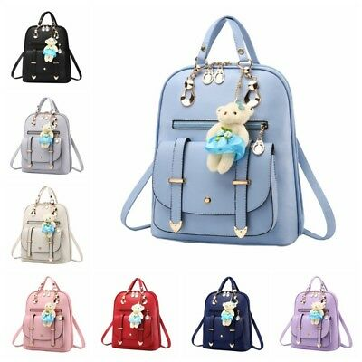Women Small Backpack Travel Pu Leather Handbag Shoulder Bag School Book Bags