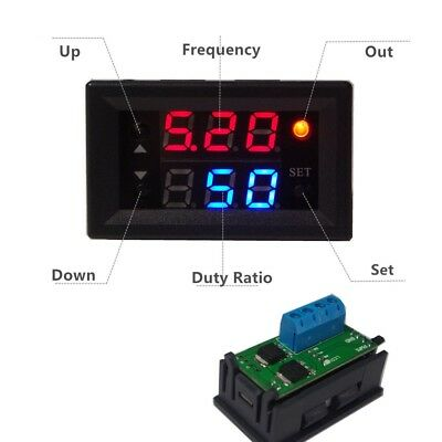 Digital display PWM 10A regulation switch Frequency duty cycle LED Dimming Motor