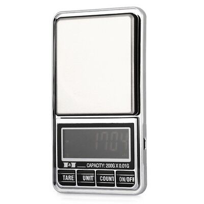 200g 0.01 DIGITAL ELECTRONIC POCKET JEWELLERY SCALES 10 milligram Micro-gm S5P4)
