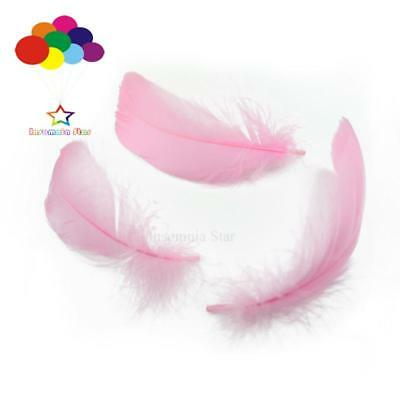 Pink Diy 100 Pcs/Lots Goose feather 4-7cm 1-2 Inch Stage Props Dream Catcher