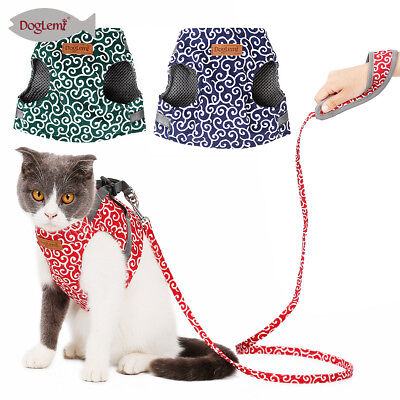 Breathable Cat Harness Leash Set Small Cat Walking Harness Pet Kitten Clothes