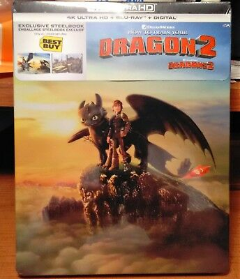 How To Train Your Dragon 2 [Steelbook] [4K+Blu-ray+Digital] NEW - LAST COPY!!!