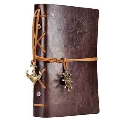 Leather Journal Notebook Diary Writing Notepad Sketchbook Travel Nautical Spiral