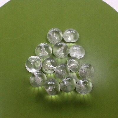 14 Clear Glass vintage Ball Buttons