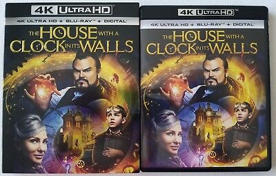 The House With A Clock In Its Walls 4K Ultra Hd Blu Ray 2 Disc Set + Slipcover