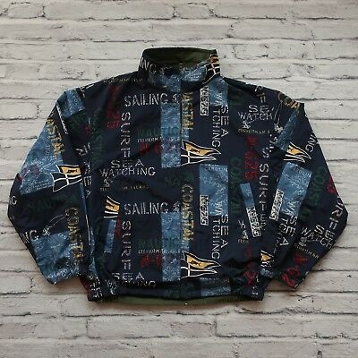 46ba68c795 VINTAGE NAUTICA ALL Over Print Reversible Jacket Size M