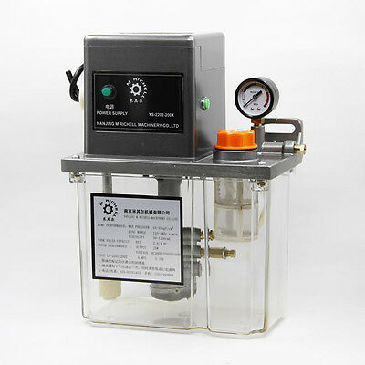 New 220V 2L 6mm Electric Lubrication Pump Machine Oil Pump PLC Control Outlet