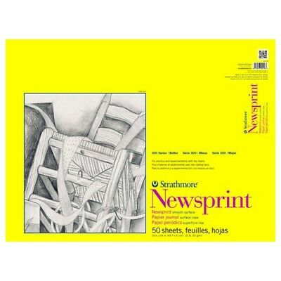 Strathmore / Pacon Papers 30718 Newsprint Smooth Tape 50 Sheets 30Lb 18X24