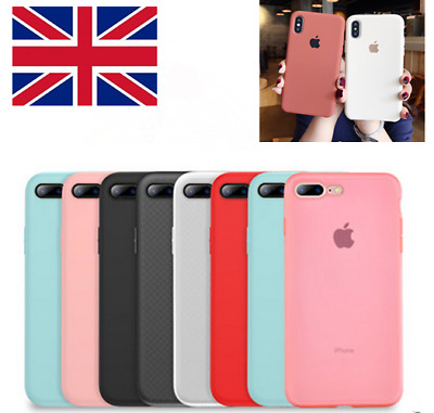 For iPhone 7 8 10 X XR XS Max Genuine Original Silicone Luxury Case OEM Cover
