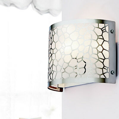 LED Stainless Steel Wall Light Water Cube Brief Wall Lamp Home Lighting Decro