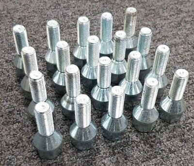 Peugeot wheel bolts M12 x 1.25 28mm pack of 20 thread length 19mm Hex tapered