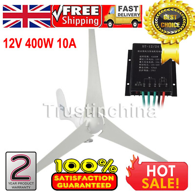 12V 400W Wind Turbine Generator 10A Charger Controller Home Power UK FAST SHIP!