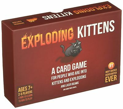 Genuine Official Exploding Kittens Card Game Board FAST DISPATCH